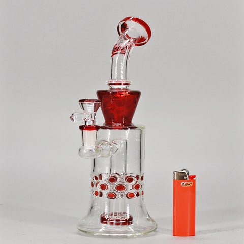 Cheers Red, Red Wine Glass Water Pipe - Climax Smoke Shop