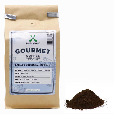 Green Roads Gourmet Coffee infused with CBD