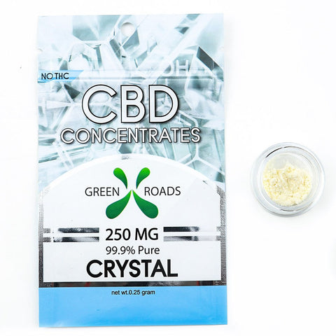 Green Roads CBD Concentrate - 250mg Crystal Pure CBD Isolate (99.9%)
