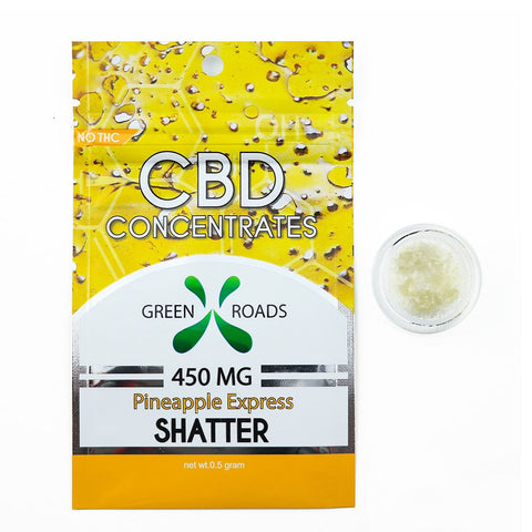Green Roads CBD Concentrates - Pineapple Express Shatter 450mg