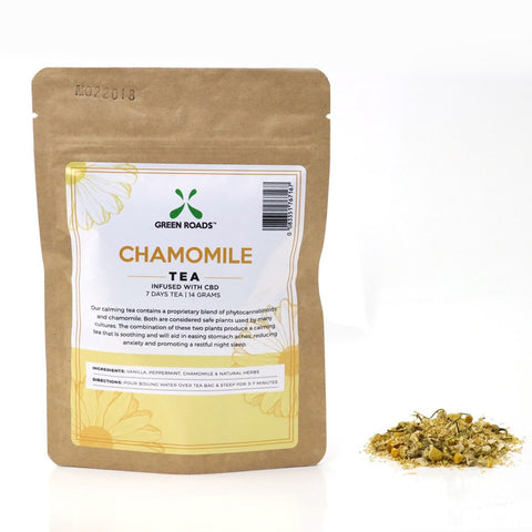 Green Roads Chamomile Tea infused with CBD