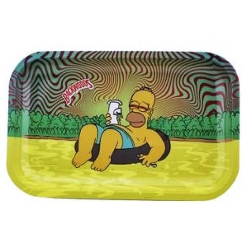 Backwoods Rolling Tray - Homer Simpson Chilling