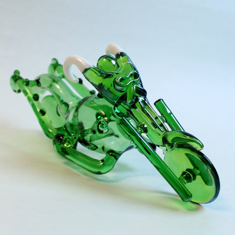 Green Motorcycle - Glass Hand Pipe