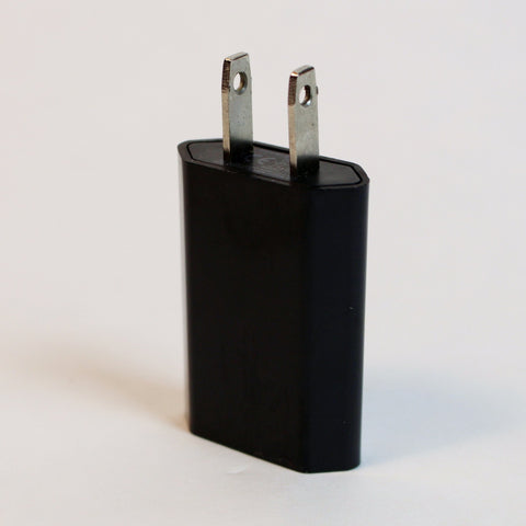 USB to Wall Battery Charger Adapter - Black