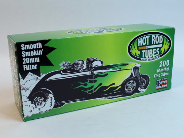 Hot Rod Tubes - Menthol King (200 pack)