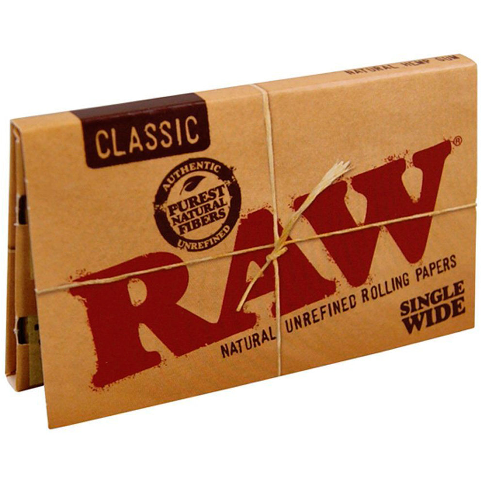 RAW Single Wide Double Window (100 per book) - Climax Smoke Shop