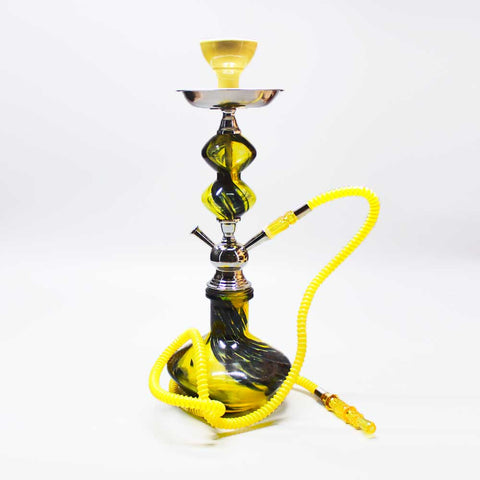 "Manhattan Premium Hookah 18"" Yellow"