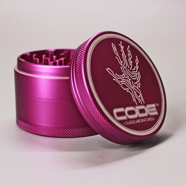 CODE Glass Labs - Pink 3 Stage Grinder - Climax Smoke Shop
