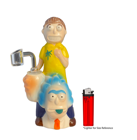 Ceramic Waterpipe Rick & Morty Oil Rig - 8 inches
