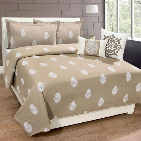 Sohome Taupe Cotton Duvet Set