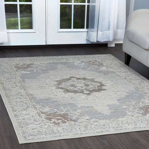 Pastel area rug shabby chic