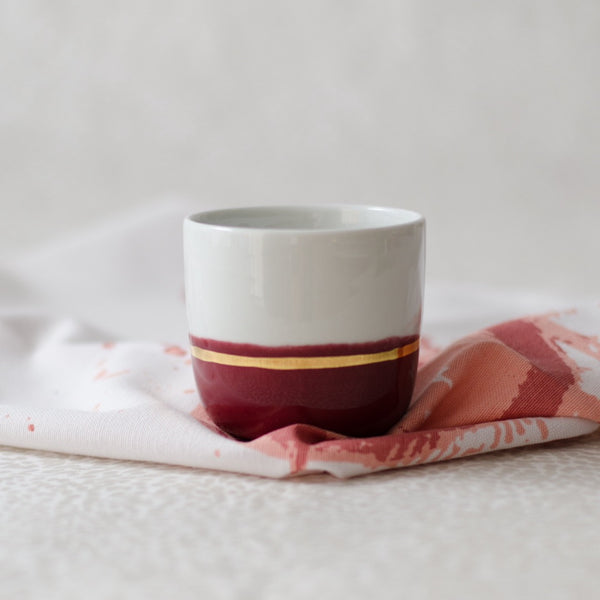 Color-dipped espresso cups Espresso cup - artisan handmade porcelain wedding gift tableware Boya Porcelain  dinnerware