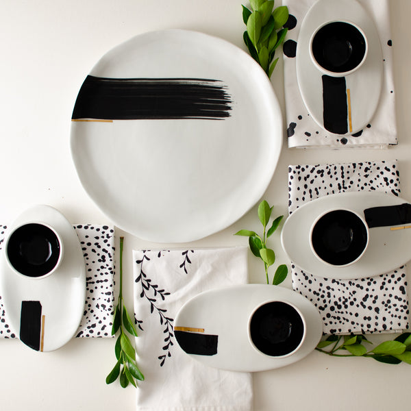 Sushi set for 4 sushi set - artisan handmade porcelain wedding gift tableware Boya Porcelain  dinnerware