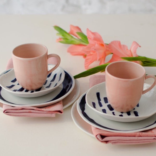 Pink&Cobalt, breakfast set for two