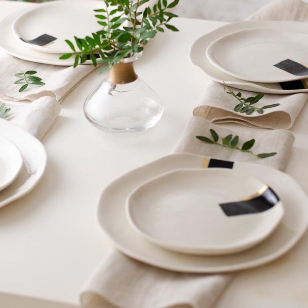 Moscata set for 4 Dinner set - artisan handmade porcelain wedding gift tableware Boya Porcelain  dinnerware