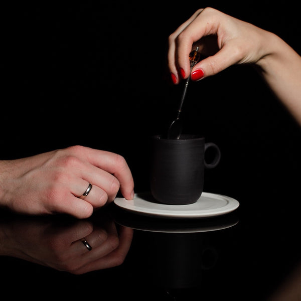 Noir Cup And Saucer