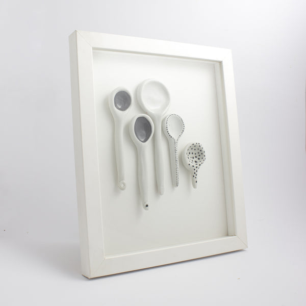 "Wall art, ""Spoonful"" wall art - artisan handmade porcelain wedding gift tableware Boya Porcelain  dinnerware"