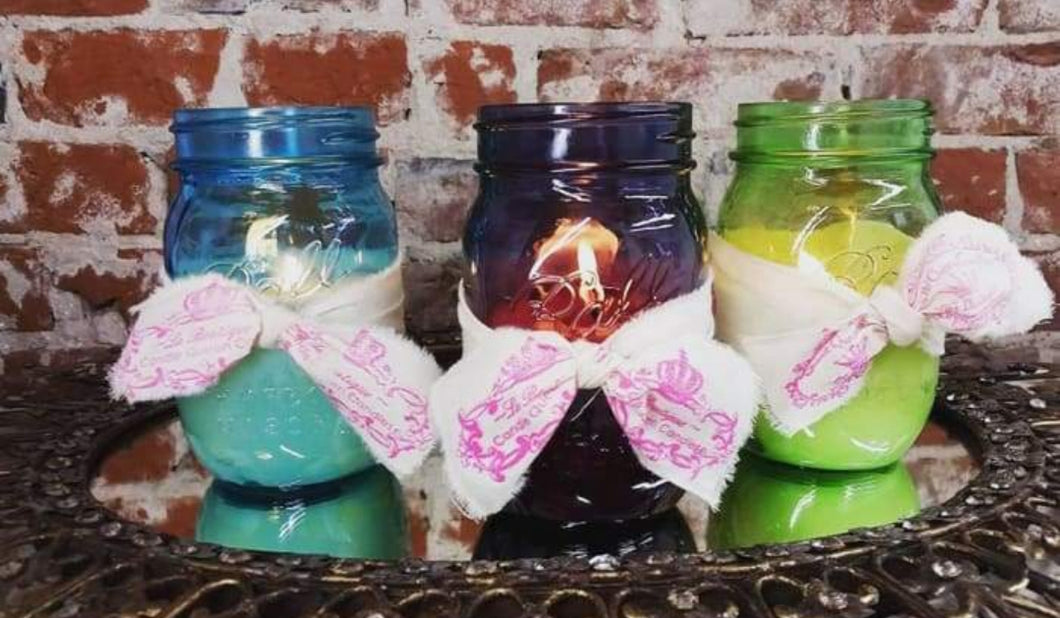 Angel wings vintage Half Full 8 0z. - Candle Queen Candles