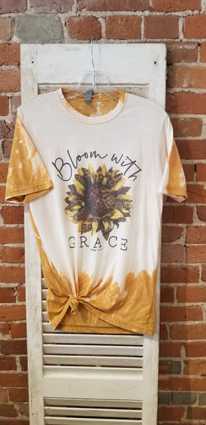 Bloom with Grace Sunflower Tee - Candle Queen Candles