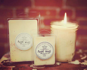 Angel Wings Pint Candle - Candle Queen Candles