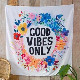Good Vibes Only Tapestry - Candle Queen Candles