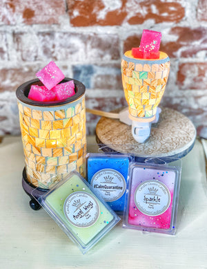Turquoise Mosaic Warmers & Melts 5 pc. Set - Candle Queen Candles