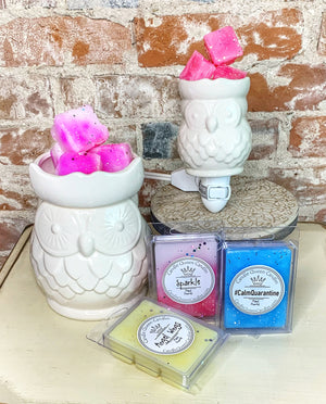 Owl or Taupe 5pc warmer set - Candle Queen Candles