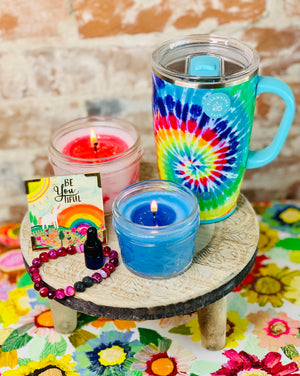 Tie Dye gift Set - Candle Queen Candles