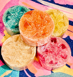 Round Loofah Soap - Candle Queen Candles