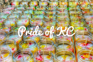 Pride of KC pint candle - Candle Queen Candles