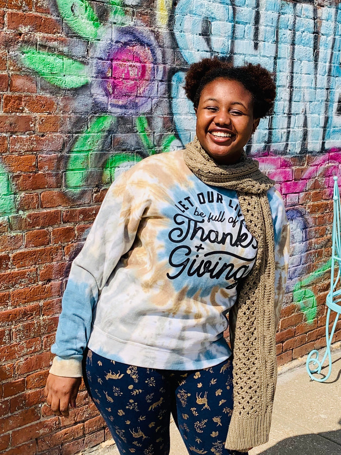 Thanks + giving sweatshirt