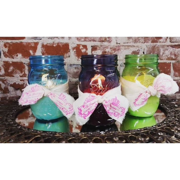 Luminary Candle in Colored Jar