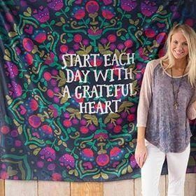 Start each day with a Grateful heart Tapestry