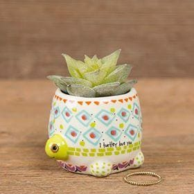 Turtle Faux Succulent - Candle Queen Candles