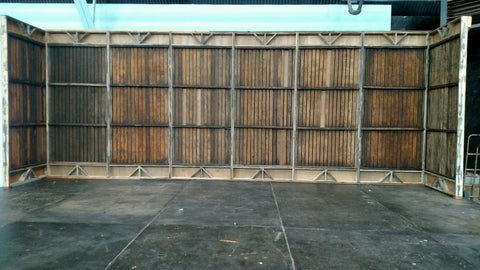 Wood Slat Privacy Wall 36""