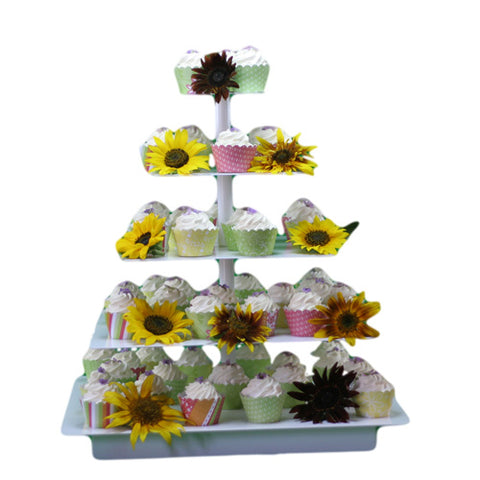 Square Banded Cupcake Tree