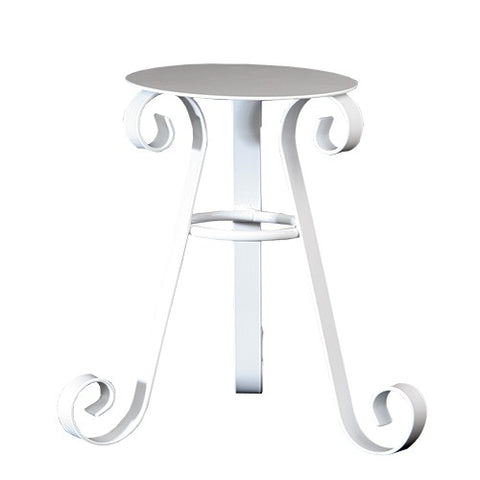 Scrolled Buffet Riser White or Bronze 12""