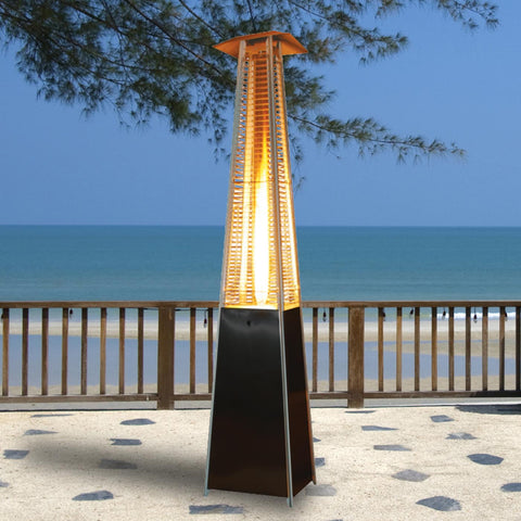 Heater, Pyramid 8', 32K BTU, Brass