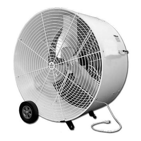 "Floor Fan, 36"" with wheels"