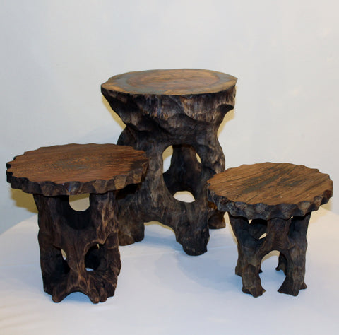 Rustic Wood Stand Small