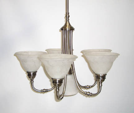 Chandelier, Antique Pewter