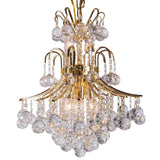 Chandelier, 24K & Crystal