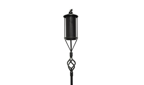 Tiki Torch 6' Black Wrought Iron