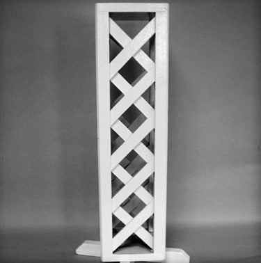 "26"" White Wood Plant Stand Set"