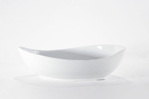 "White Bowl 14"" Canoe, 34oz."
