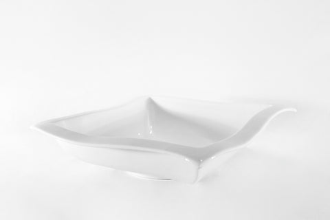 White Square wave Bowl, 13""