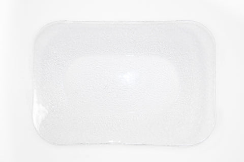 "Glass Textured Rectangular Platter, 17"" x 11"""