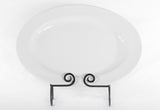 "Platter, 18"" Oval, White China"