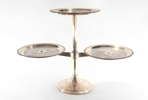 Silver 3-Tier Display Stand