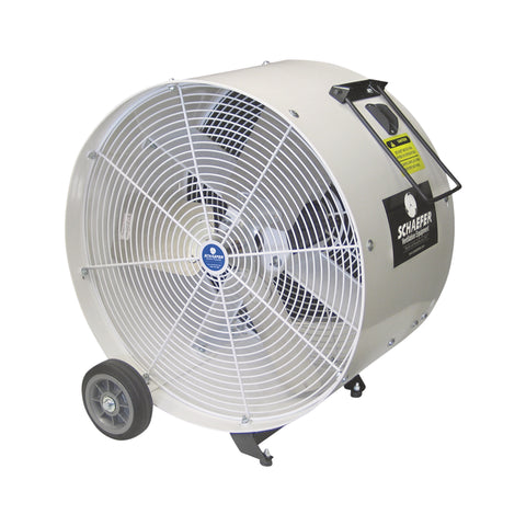 "Floor Fan, 24"" with wheels"